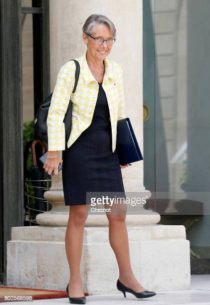 French Minister in charge of Transport Elisabeth Borne leaves the Elysee Presidential Palace after a weekly cabinet meeting on june 28 2017 in Paris...