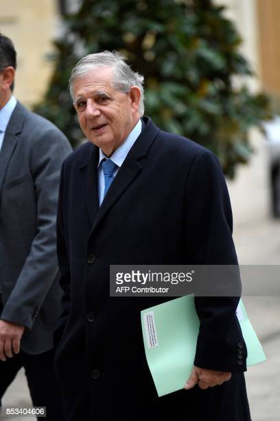 French Minister of Agriculture and Food Jacques Mezard arrives for report on the Grand Investment Plan by French economist Jean PisaniFerry on...