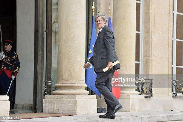 French Minister of Agriculture and Forestry Gouvernment Spokesman Stephane Le Foll arrives to the Elysee Palace for the weekly cabinet meeting on...