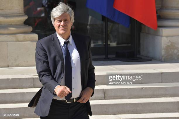 French Minister of Agriculture and Forestry Gouvernment Spokesman Stephane Le Foll leaves the Elysee Palace after French President Francois Hollande...