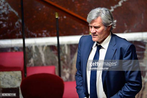 French Minister of Agriculture and Forestry Government Spokesman Stephane Le Foll arrives for the questions to the government at French National...