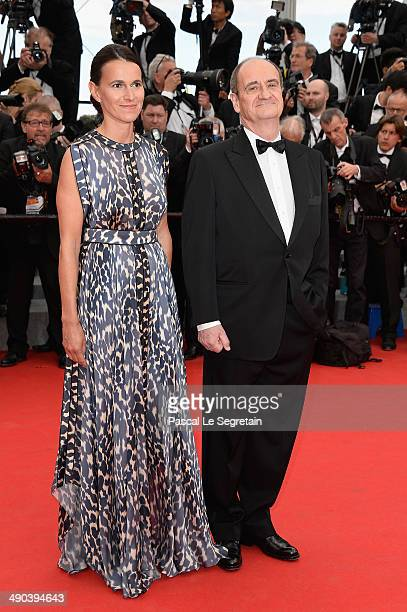 French Minister of Cultural affairs Aurelie Filippetti and Pierre Lescure attend the Opening ceremony and the 'Grace of Monaco' Premiere during the...
