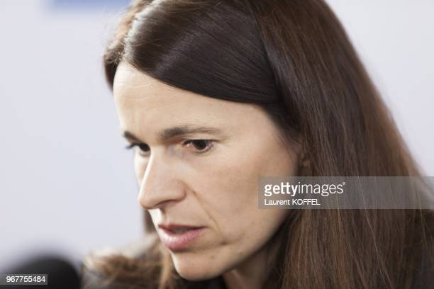 French minister of culture and communication Aurelie Filippetti attends at the Paris Book Fair on March 25 2013 in Paris France