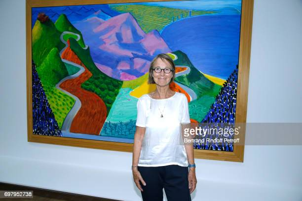 French Minister of Culture and Communication Francoise Nyssen attends the David Hockney Retrospective Exhibition at Centre Pompidou on June 19 2017...