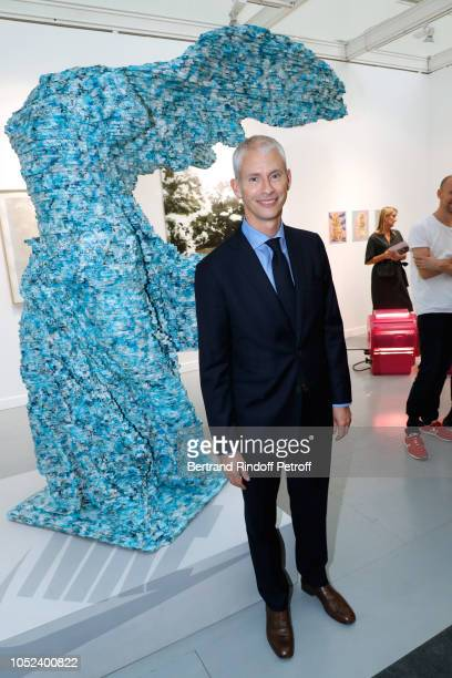 French Minister of Culture Franck Riester attends the FIAC 2018 International Contemporary Art Fair Press Preview at Grand Palais on October 17 2018...