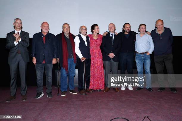 French Minister of Culture Franck Riester JeanMarie Winling JeanClaude Carriere Pierre L'homme Anne Brochet JeanPaul Rappeneau Vincent Perez Jacques...