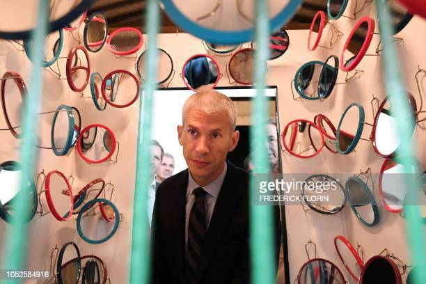 French minister of Culture Franck Riester visits the exhibition I want to break free Portuguese artist by Joana Vasconcelos at the Museum of Modern...