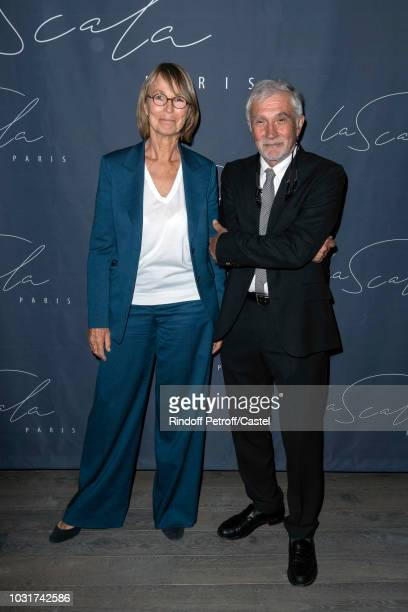 French Minister of Culture Francoise Nyssen and her husband JeanPierre Capitani attend La Scala reopens on September 11 2018 in Paris France