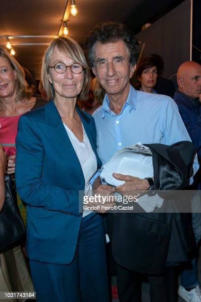 French Minister of Culture Francoise Nyssen and Jack Lang attend La Scala reopens on September 11 2018 in Paris France