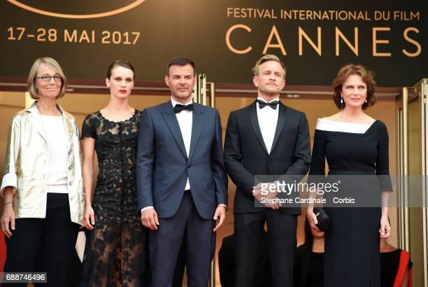French minister of Culture Francoise Nyssen Marine Vacth director Francois Ozon Jeremie Renier and Jacqueline Bisset attend the 'Amant Double '...