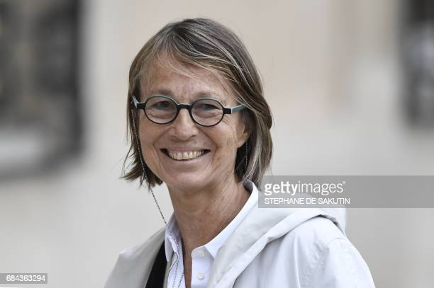French Minister of Culture Françoise Nyssen arrives at the Elysee palace in Paris on May 18 before the weekly cabinet meeting / AFP PHOTO / STEPHANE...