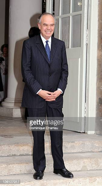 French Minister of Culture Frederic Mitterrand Attends 'Master Art' Exhibition Opening at Palais Imperial de Compiegne on September 22 2011 in...
