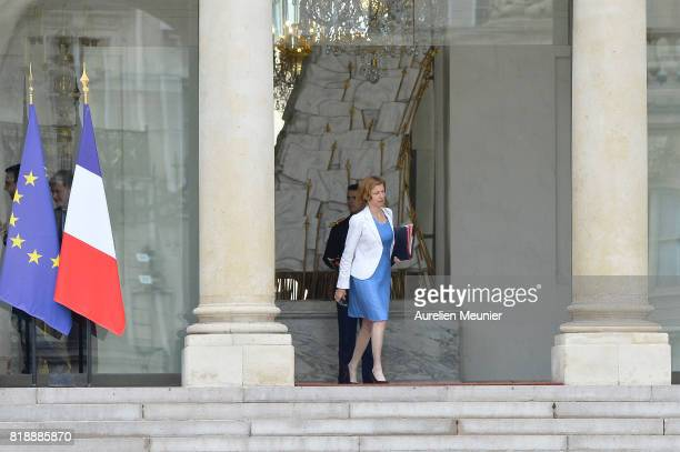 French Minister of Defence Florence Parly leaves the Elysee Palace after the weekly cabinet meeting with French President Emmanuel Macron on July 19...