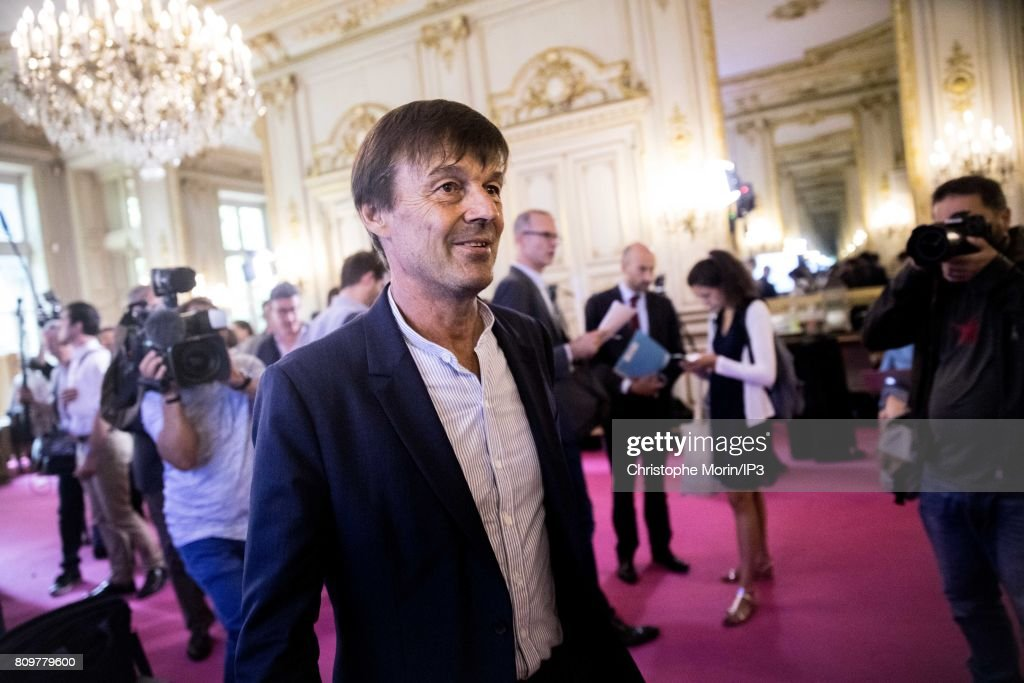 Press Conference Of Nicolas Hulot - French Ministry Of Ecological And Solidary Conversion