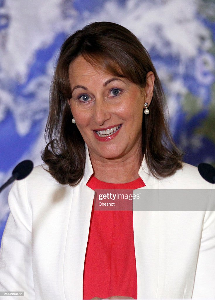 Segolene Royal Holds A Press Conference In Paris