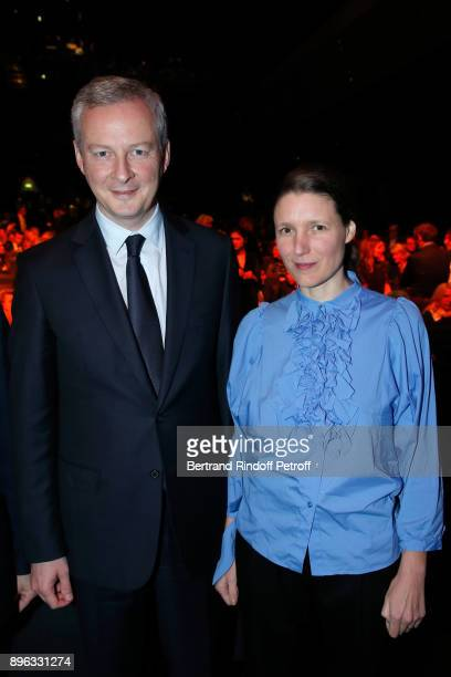 French Minister of Economy and Finance Bruno Le Maire and his wife Pauline Doussau de Bazignan attend the Gala evening of the PasteurWeizmann Council...