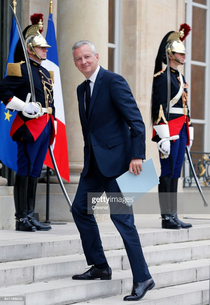 French President Emmanuel Macron Receives Alassane Ouattara, President of Cote D'Ivoire At Elysee Palace In Paris