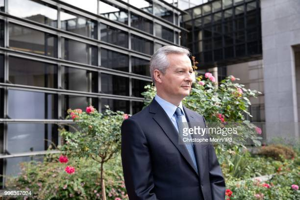 French Minister of economy Bruno Le Maire attends a joint meeting with German Economy Minister Peter Altmaier on July 11 2018 in Paris France The...