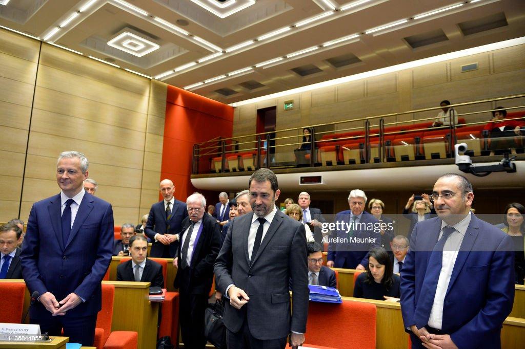 FRA: French Interior Minister Christophe Castaner Speaks At The Senate