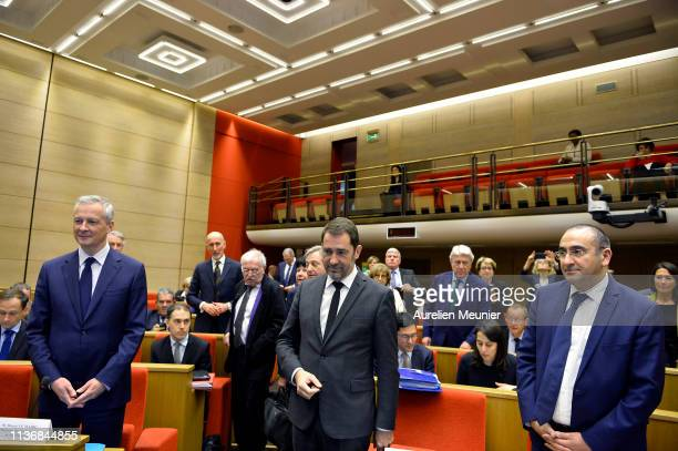 French Minister of Economy Bruno Le Maire French Minister of Interior Christophe Castaner and Secretary of State to the Minister of Interior Laurent...