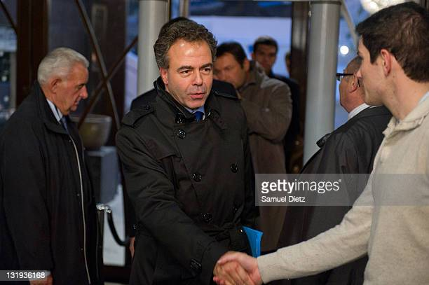 French Minister of Education Luc Chatel arrives at the convention Knowledge and education for all at Bobino on November 8 2011 in Paris France The...