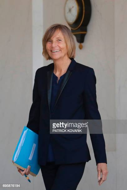 French Minister of European Affairs Marielle de Sarnez leaves a cabinet meeting on June 14 2017 at the Elysee Palace in Paris / AFP PHOTO / Patrick...