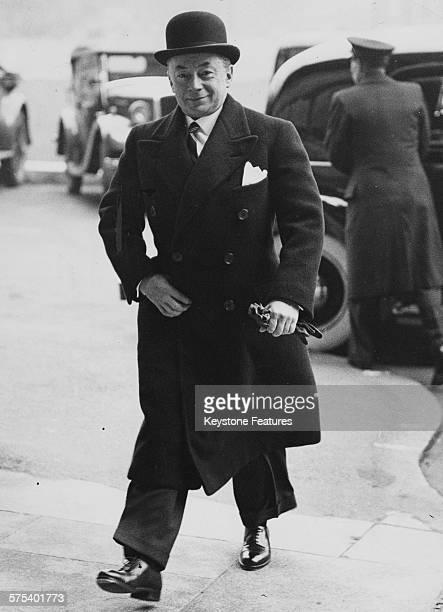 French Minister of Finance Paul Reynaud arriving to visit Lord Halifax in London, May 20th 1938.