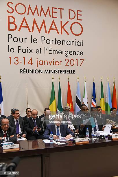 French Minister of Foreign Affairs Jean Marc Ayrault and Minister of Foreign Affairs of Mali Abdoulaye Diop attend the FranceAfrica Summit in Bamako...