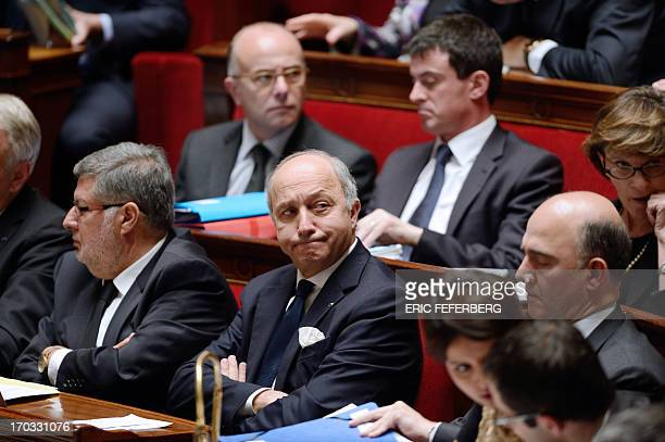 French Minister of Foreign Affairs Laurent Fabius French Interior Minister Manuel Valls French Economy Finance and Foreign Trade Minister Pierre...