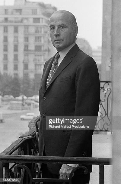 French Minister of Foreign Affairs PierreChristian Taittinger on his balcony He also served as the Mayor of the 16th district of Paris
