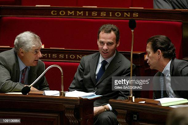 French Minister Of Justice Dominique Perben Presents Amnesty Bill At The National Assembly On September 7Th 2002 In Paris France Pascal Clement...