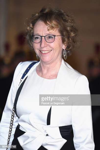 French Minister of Labour Muriel Penicaud attends a State dinner hosted by French President Emmanuel Macron and Brigitte Macron at the Elysee Palace...