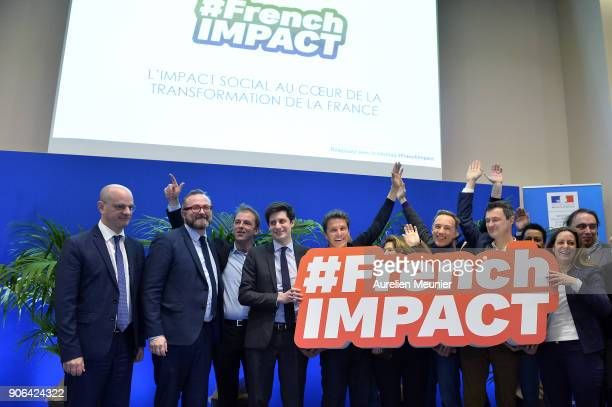 French Minister of National Education JeanMichel Blanquer High Commissioner for Social and Solidarity Economy Christophe Itier Junior Minister of...