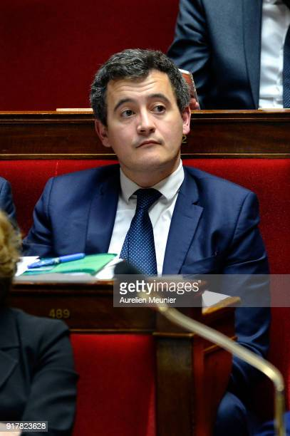 French Minister of Public Action and Accounts Gerald Darmanin as Ministers answer deputies questions during the weekly session of questions to the...