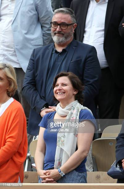 French Minister of Sports Roxana Maracineanu and husband Franck Ballanger attend the men's final during day 15 of the 2019 French Open at Roland...