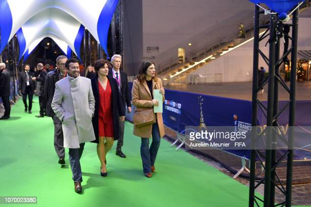 French Minister of Sports Roxana Maracineanu arrives to the final draw for the FIFA Women's World Cup 2019 at La Seine Musicale on December 8 2018 in...