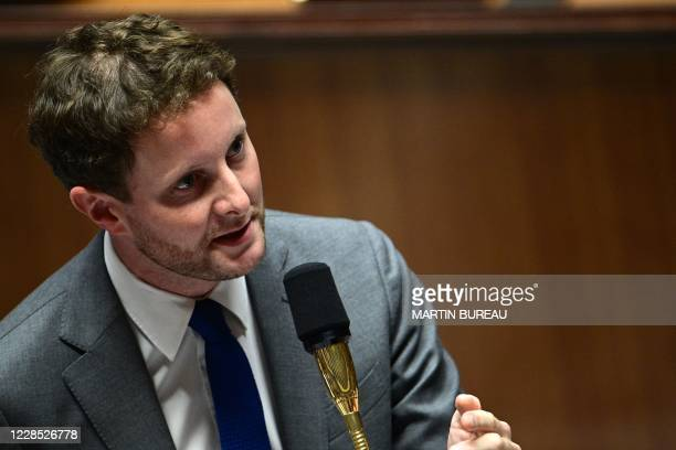 French Minister of State for European Affairs attached to the Minister for Europe and Foreign Affairs Clement Beaune speaks during a session of...