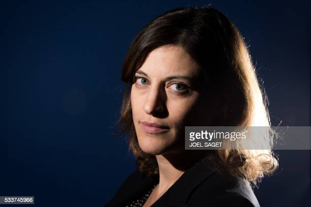 French Minister of State for Victim Assistance Juliette Meadel poses in Paris on May 23 2016 / AFP / JOEL SAGET
