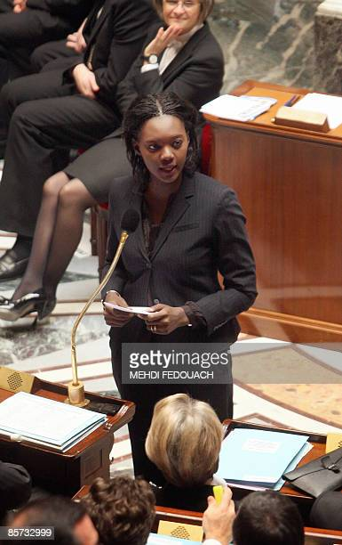 French Minister of State to the Minister of Foreign and European Affairs with responsibility for Foreign Affairs and Human Rights Rama Yade delivers...