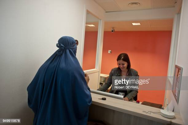 French minister Roselyne Bachelot at social center on april 08 2011 in Lyon France