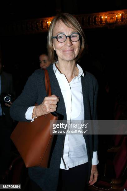 French Ministre of Culture Francoise Nyssen attends the Tribute to Actress Jeanne Moreau at Odeon Theatre on December 4 2017 in Paris France