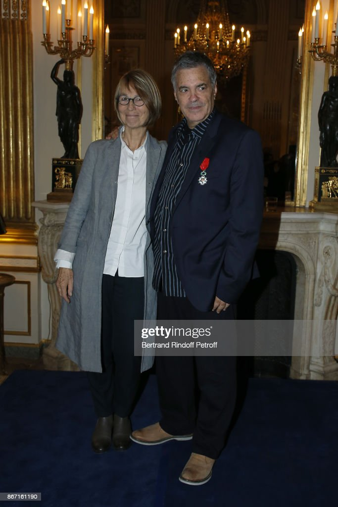 Amos Gitai Is Awarded Chevalier De L'Ordre National De La Legion D'Honneur At Ministere De La Culture In Paris