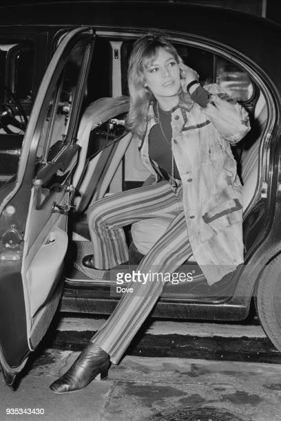 French model and actress Nathalie Delon at heathrow Airport London UK 12th October 1968