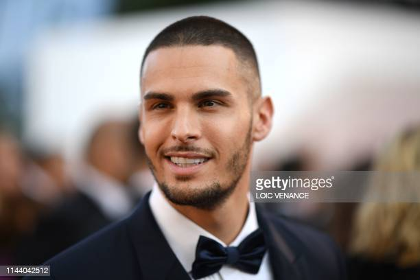 French model and singer Baptiste Giabiconi arrives for the screening of the film Rocketman at the 72nd edition of the Cannes Film Festival in Cannes...