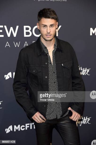 French model and singer Baptiste Giabiconi attends the New Body Award By McFit Models on October 26 2017 in Berlin Germany