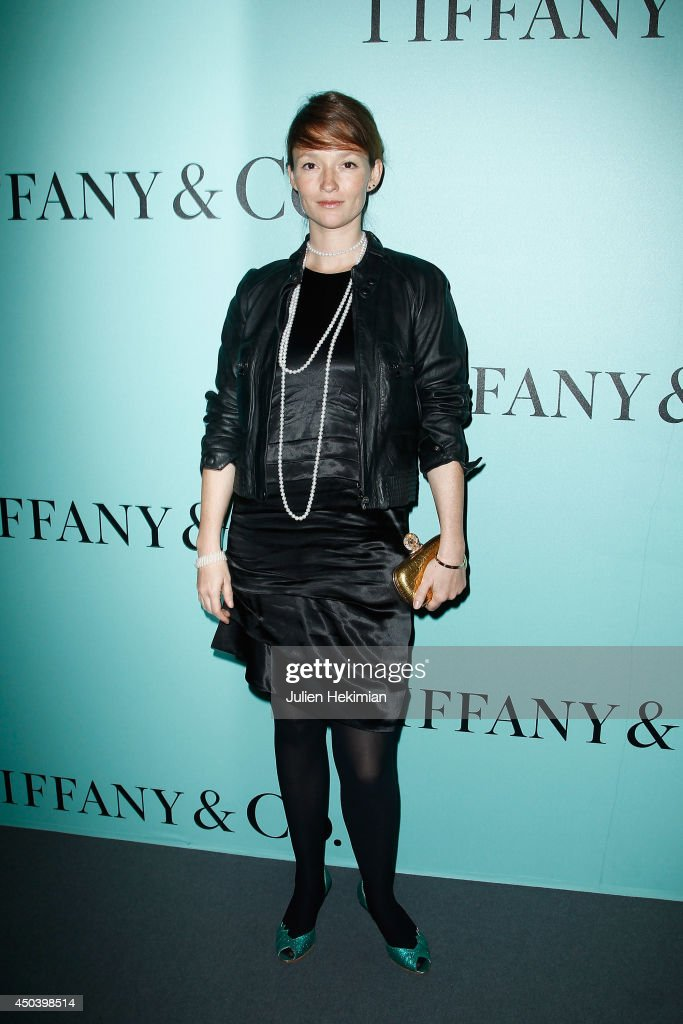 French model Audrey Marnay attends the Tiffany & Co Flagship Opening on the Champs Elysee on June 10, 2014 in Paris, France.