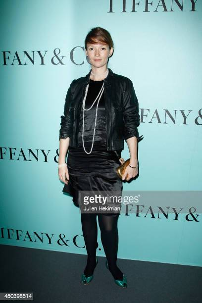 French model Audrey Marnay attends the Tiffany Co Flagship Opening on the Champs Elysee on June 10 2014 in Paris France