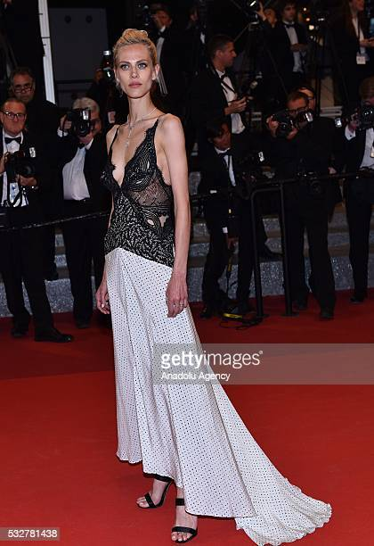 French model Aymeline Valade arrives for the screening of the film 'Juste La Fin du Monde' at the 69th international film festival in Cannes on May...