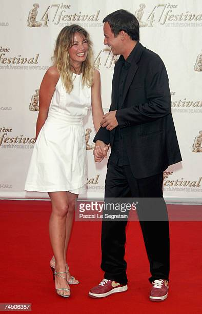 French model Celine Balitran and TV presenter Gael Leforestier attend the opening night of the 2007 Monte Carlo Television Festival held at Grimaldi...
