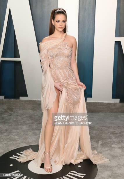 French model Clara Berry attends the 2020 Vanity Fair Oscar Party following the 92nd Oscars at The Wallis Annenberg Center for the Performing Arts in...